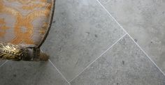 These Jura limestone tiles are a very dense German limestone characterised by its hard wearing properties along with its beautiful fossils. Limestone Flooring, Tile Floor, Tiles, Grey, Floors, Flag, Content, Dining, Bathroom