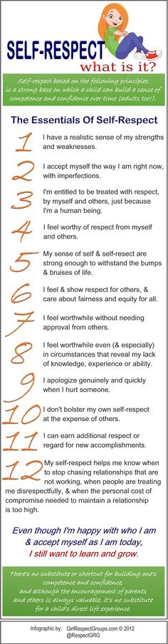 Self-Respect: What Is It? (Infographic) - Bullying Epidemic