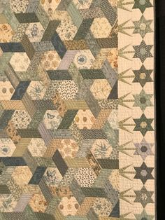 """Greetings! I am now working exclusively on """"We Are Stardust"""" until it is finished. I have one final border to hand quilt. I am quilting around the vines and flowers and adding diagon…"""