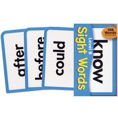 Sight Words Level B Brailled Pocket Flash Cards - Educational - MaxiAids