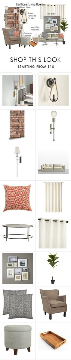 Living Room by sandrapokorny on Polyvore featuring interior, interiors, interior design, home, home decor, interior decorating, Sandro, Safavieh, Cathy's Concepts and Pier 1 Imports