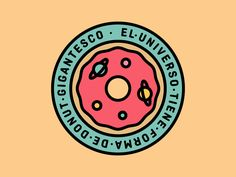 Donut Universe designed by Pablus. Restaurant Branding, Logo Branding, Logos, Donuts, Donut Logo, Wallpaper Powerpoint, Best Icons, Donut Shop, Shop Logo