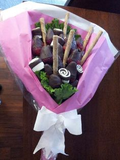 Bouquet de fresas con chocolate!