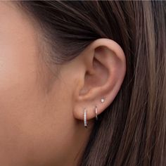 Three Ear Piercings, Pretty Ear Piercings, Ears Piercing, Piercings For Small Ears, Piercings Rook, Peircings, Ear Jewelry, Cute Jewelry, Jewelery