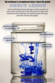 Testimony becomes stronger when we share it object lesson