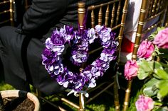 Purple hydrangea heart# wedding decor