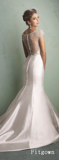 Discover the Allure 9158 Bridal Gown. Find exceptional Allure Bridal Gowns at The Wedding Shoppe Wedding Dresses 2014, Elegant Wedding Dress, Wedding Attire, Elegant Dresses, Bridal Dresses, Wedding Gowns, Prom Dresses, Lace Wedding, Satin Mermaid Wedding Dress