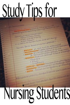 Nursing student study tips. How to study in Nursing School. Student Nurse. RN, BSN, STNA,
