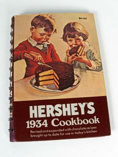 vintage Hersheys 1934 Cookbook - tenth edition - 1970s - $9.00 #chocolate #cooking #baking #book #recipes #fall #autumn #vintage