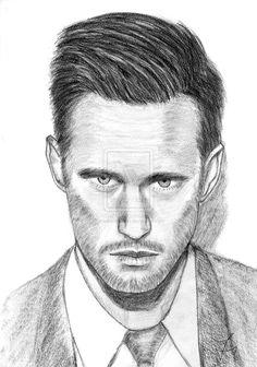 Drawing Alexander Skarsgard by carlosirigoyen.deviantart.com on @deviantART