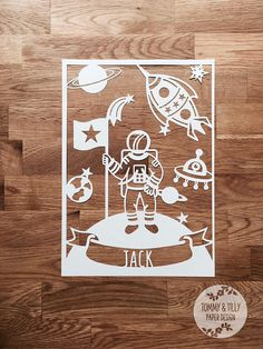 Astronaut in Space SVG / PDF Design  Papercutting Vinyl
