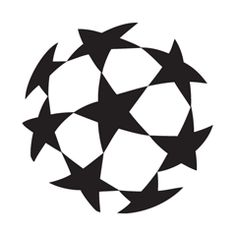 UEFA Champions League vector logo  abstract symbol mark