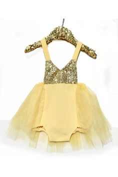 a2a46b46b4a3 Birthday Belle Yellow Gold Sparkle Romper  BelleThreadsPinterest   bellethreads Toddler Halloween Costumes