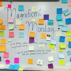 Magnificent Monday with my kiddos! Classroom Organization, Classroom Management, Classroom Ideas, Morning Activities, Bell Work, Responsive Classroom, Classroom Community, Morning Messages, Writing Prompts