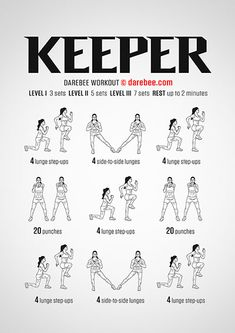 Keeper is a workout that builds you up without having to first tear you down. 300 Workout, Hiit Workout At Home, Workout Challenge, At Home Workouts, Boxing Workout, Workout Routines, Workout Videos, Cardio, Darebee Workout