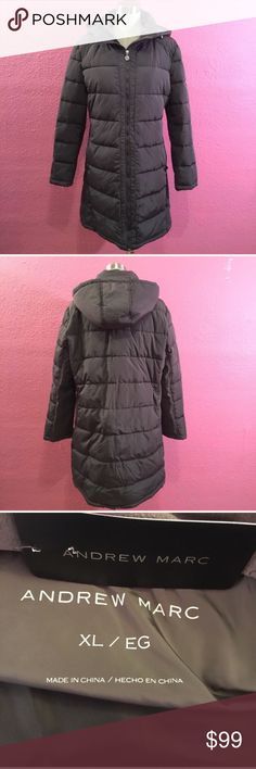 Winter puffer coat.   New with tags quilted. Gray Winter puffer coat.   New with tags quilted. Gray    Hood is not detachable Andrew Marc Jackets & Coats Puffers