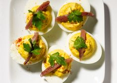Deviled Eggs with Anchovy: Recipe: bonappetit.com