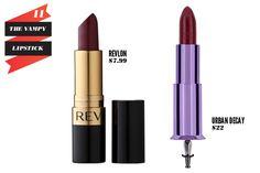 Revlon Super Lustrous Lipstick in Blackberry vs Urban Decay Lipstick in Gash.