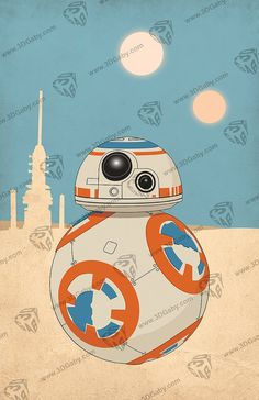 Star Wars Episode 7 The Force Awakens Droid BB-8 by GabyGraphics
