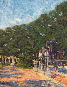 Strauss & Co South African Art, Fine Art Auctions, Landscape Paintings, Oil On Canvas, City, Image, Garden, Xmas, Garten