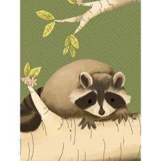 Oopsy Daisy - Meeko the Raccoon Canvas Wall Art 18x24, Meghann O'Hara