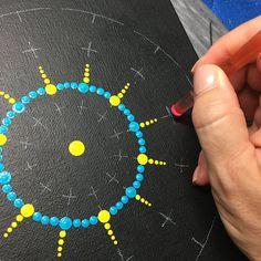 Lge 12 segment Mandala Stencil
