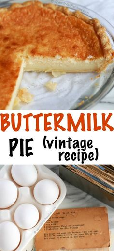 Buttermilk pie is an easy classic dessert made with simple pantry ingredients! The result is a deliciously comforting custard pie with a slightly caramelized topping. This pie will be one your family (Sweet Recipes Simple) Weight Watcher Desserts, Tart Recipes, Baking Recipes, Sweet Recipes, Fondant Recipes, Fondant Tips, Low Carb Dessert, Pie Dessert, Easy Desserts