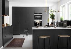 Kjøkkeninspirasjon -  Grått kjøkken - Bistro peppergrå