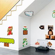 Nintendo Super Mario Bros. Wall Graphics | ThinkGeek