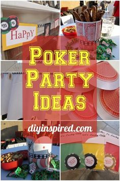 Poker Party DIY Ideas with Step by Step Tutorials for centerpieces, party favors, and banners using upcycled playing cards.