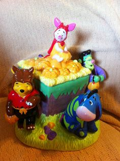 Disney Winnie The Pooh Friends Halloween Talking Cookie Jar