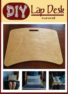 DIY No Sew Lap Desk Tutorial - www.Day to Day Adventures.com