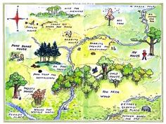 Map of 100 Acre Wood