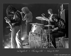 Led Zeppelin on February 15, 1969 by David TreeO.