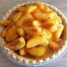 Our Friday is just peachy!  PC: Instagram user @goodeatsbystacy #freshpeachpie #peachpie #pie #mariecallenders