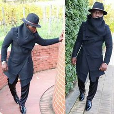 Cool 24 The Latest Winter Men Style with African Coat . African Men Fashion, Mens Fashion, Stylish Men, All Black, Riding Helmets, Winter Fashion, Jackets, Shopping, Style