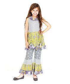 Sunshine Gray Isabella Tunic & Pants - Infant, Toddler & Girls