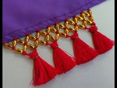 Saree Tassels Designs, News Design, Tassel Necklace, Couture, Easy, Jewelry, Fashion, Embroidery, Moda