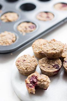 Fruity Oat Breakfast Bites. Oats baked with fruit to make little hand held bites great for blw (baby-led weaning) and for kids.