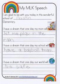Classroom Freebies: MLK Writing Paper