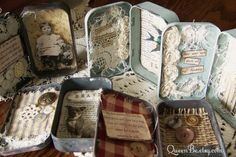 Collection of Altered Altoid Tin Assemblages by QueenBe
