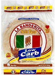Amazon.com : La Banderita Low Carb Tortilla 8pc, 12.7 Ounce (Pack of 12) : Low Carb Tortillas : Grocery & Gourmet Food