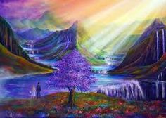 Elysian bridge Vibrant Paintings by UK based artist Ann Marie. Ann lives in beautiful Dovedale in the Peak District of Derbyshire. Ann paints mainly in What Dreams May Come, World Wallpaper, 3d Wallpaper, Traditional Paintings, Traditional Art, End Of The World, Abstract Landscape, Painting Inspiration, Film Inspiration
