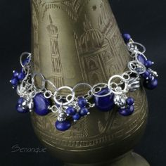 bogata #bransoleta srebrna z lapis lazuli