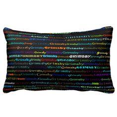 Grimsby Text Design I Lumbar Pillow