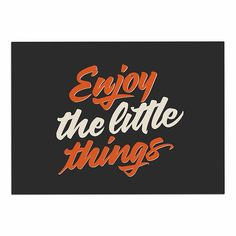 KESS InHouse Juan Paolo 'Enjoy The Little THINGS' Orange Vintage Dog Place Mat, 13' x 18' >>> To view further, visit now (This is an amazon affiliate link. I may earn commission from it)
