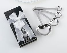 Heart shaped measuring spoons from Kate Aspen are unique and practical bridal shower favors and wedding favors that express love beyond measure. Elegant Wedding Favors, Wedding Shower Favors, Wedding Favors Cheap, Wedding Gifts, Wedding Ideas, Wedding Planning, Diy Wedding, Wedding Reception, Bridal Gifts