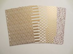 A5 Dividers: Gold, Embossed, Patterned, Chevron - for Filofax, Franklin Covey, Kate Spade, Kikki K, Day Planner, etc