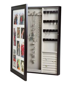 Right above the small bench is my jewelry organizer From the