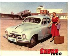 Skoda Advertising Sales, Volkswagen Group, Old Signs, Small Cars, Car Manufacturers, Car Car, Old Cars, Vintage Ads, Automobile